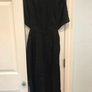 Black sleeveless jumpsuit  open back